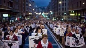 Foto de DEIA sobre la manifestación del día 10 de enero